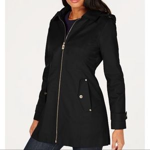 NWOT Michael Kors Black Jacket raincoat Sz. M